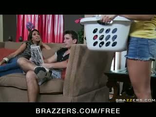 Gracie Glam - CHEATING BUSTY LATINA WIFE MILF HAS THREESOME ORGY WITH TEEN MAID