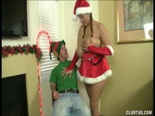 Santas Petite Helper Gets Milked Dry