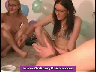 Oral sex games at party