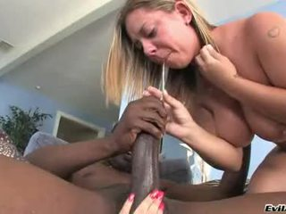 Allie Foster And Cali Couture Jack Off A Hard Black Rod