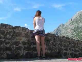 Windy Upskirt and No Panties in Public <span class=duration>- 10 min</span>