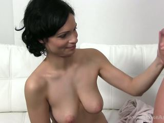 MILF came to a casting where she was fucked by two guys