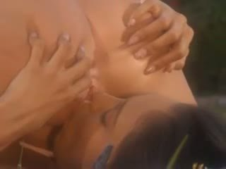 Shawna Lenee and Alexis Love gouge their hot holes with a double ended dildo