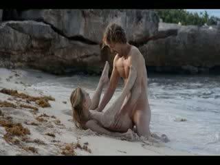 สุดๆ ศิลปะ เพศ ของ มีอารมณ์ คู่ บน ชายหาด