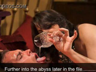 Vrouwelijke dominantie slikken opleiding - sperma eating hypnosis