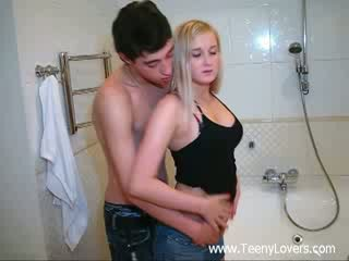 Kuřátko lovers v the bath