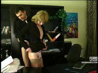 crossdresser, bureau, anal