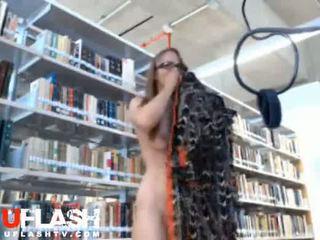Blonde Nude In Public Library Amateur Teen on Webcam