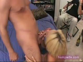 Cuckold blonde busty wife