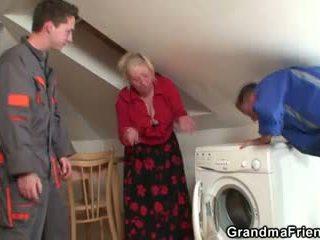 vieux, 3some, grand-mère