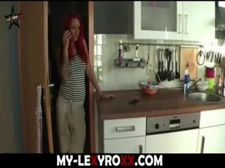meisje, redhead, cumshot