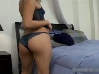 Sexy Asian Teen Stripping