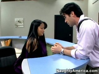 Reception дівчина трахання право на її стіл