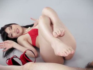 Red shoes footjob by japan girl