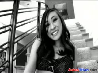 Beautiful Asian Teen Having Sex On The Stairs