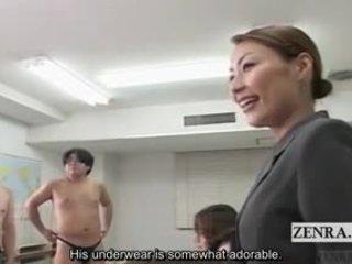 Subtitled cfnm japonsko schoolgirls goli art razred