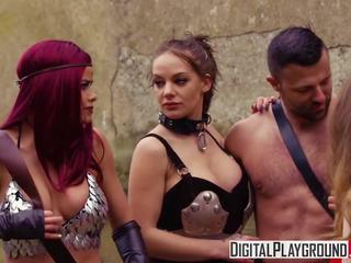 Xxx porno video - sarkans maiden a dp parodija ar jessa.