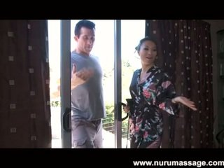 Asa Akira oil massage with a happy ending