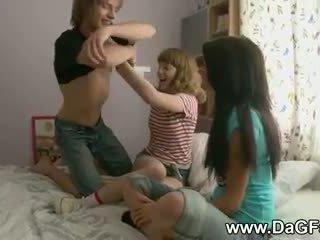 Harcore dreier mit schoolgirls