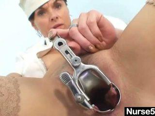 Amateur milf nurse naughty pussy stret...