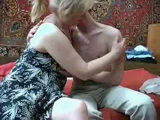 Viejo mamá con desde russia