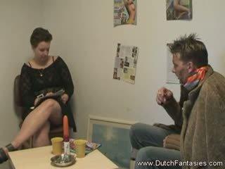 Herstellung die holländisch dame glücklich