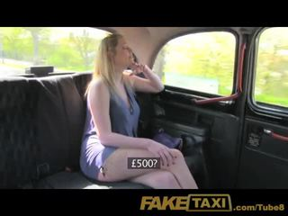 FakeTaxi Blonde with big natural tits makes extra cash