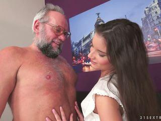 Young Anita Bellini on Older Dick, Free Porn 7b