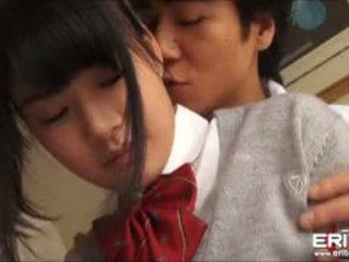 Supercute japans schoolmeisje itsuka geneukt en creampied