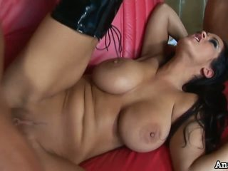 Gorgeous Carmella Bing in hard threesome with anal and DP