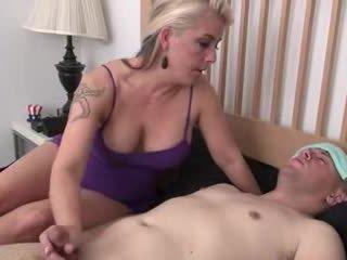 Step-mom helps बीमार step-son