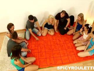 Spicy Roulette: Cute teens love big orgies
