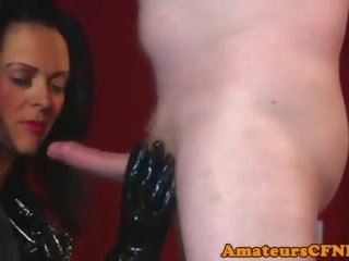 CFNM Domina Spits on Slaves Hard Cock, HD Porn 56