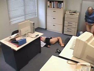 Molested schlafen büro dame