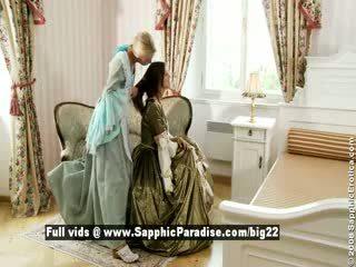 Judit un juliette no sapphic eroticalesbian meitenes izģērbtas