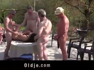 Anita bellini банда banged от 8 стар възбуден cocks