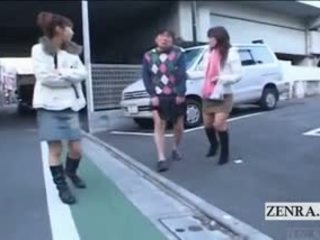 Subtitled verrückt öffentlich japanisch crossdressing femdom