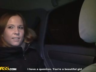 Sexy redhead fucked in a car Video