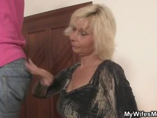 Blonde mother in law seduces me into s...