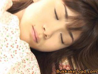 Asuka ohzora hawt азіатська модель acquires секс cream