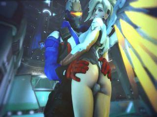 Mercy en evil mercy in overwatch hebben seks