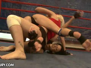 This Weeks Exciting Catfight Features Karlie Simon And Liz.