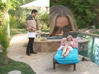 Hot milf julia ann fucked by the handsome pool guy
