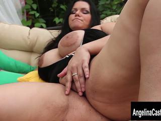 Big Tit Cuban Slut Angelina Castro Squirts and Blows.