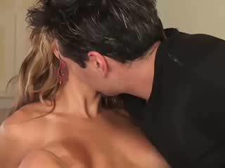Sexy busty blonde with big boobs fucks...