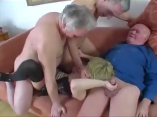 Young gyz fucked by a group of old men, porno 61