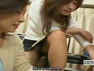 Subtitles jepun milfs cougars wanita berpakaian dan lelaki bogel/ cfnm harem
