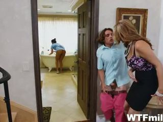 Stepmom Julia Ann Threesome with the Maid Abby Lee Brazil