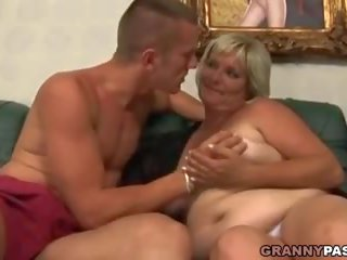 Fat Granny Totally Destroyed by a Young Guy: Free Porn 57