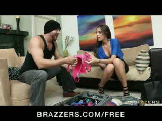 HOT Busty brunette Kortney Kane shows off her lingerie